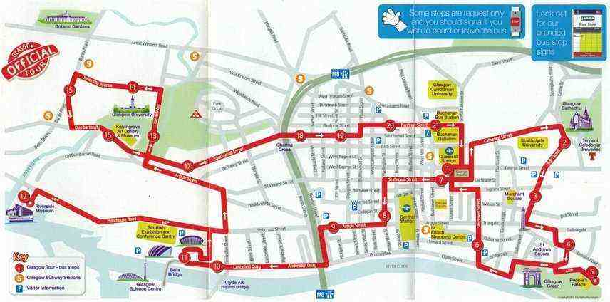 Glasgow City Tour – Edinburgh City Map Tourist