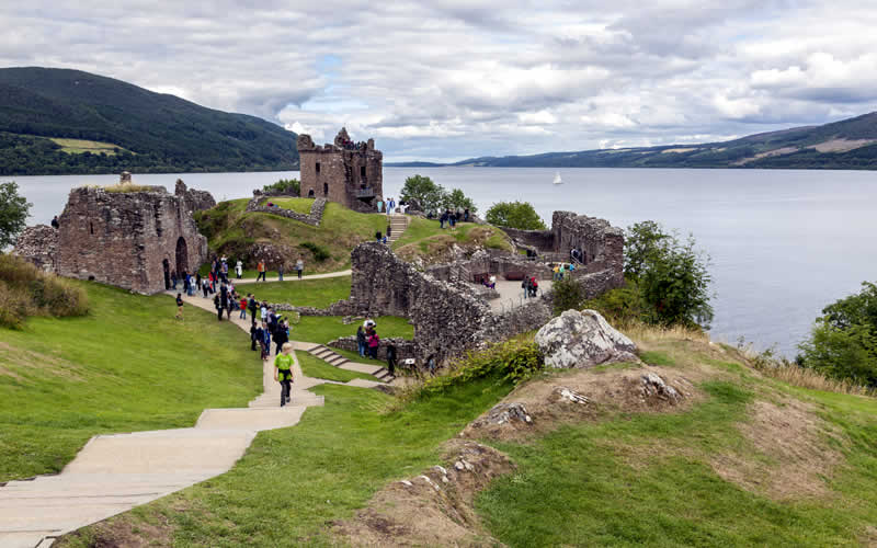 Passengers at Urquhart Castle