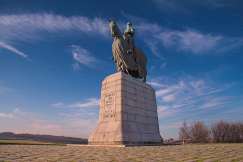 Statute of King Robert the Bruce on his horse at Bannockburn Battlefield