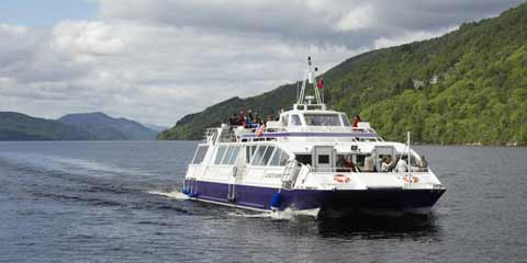 Passsengers enjoying a Loch Ness Cruise