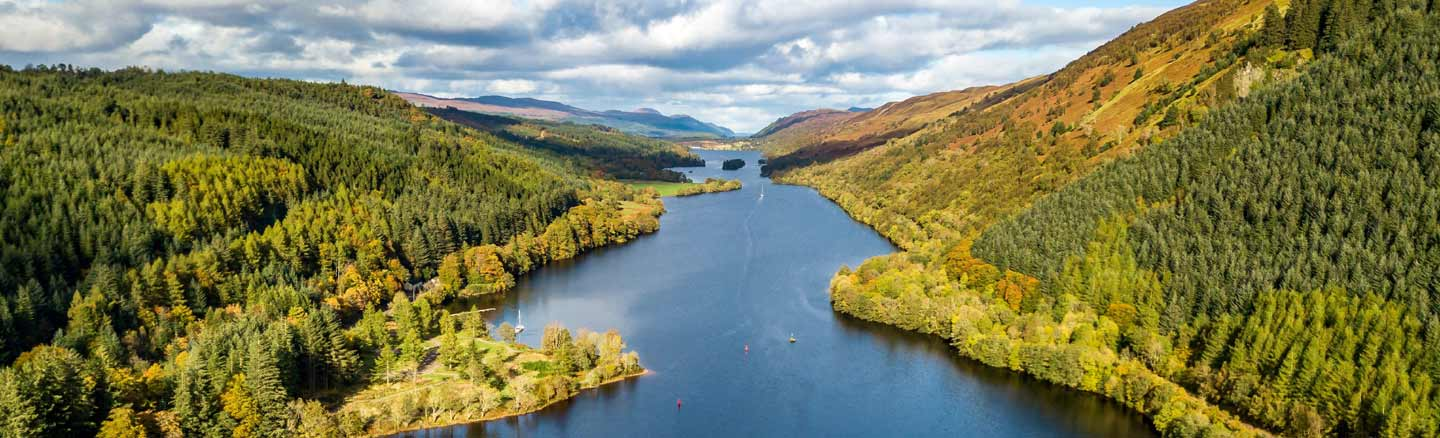Loch Oich in the Great Glen seen from above