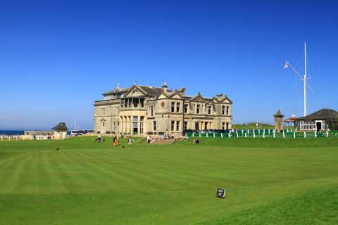 Old Course St Andrews and the Royal and Ancient Golf Club Clubhouse