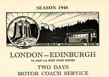 Advert for the London to Edinburgh service in 1946