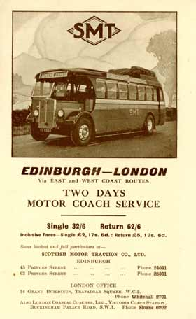1932 leaflet promoting the new two-day London to Edinburgh service
