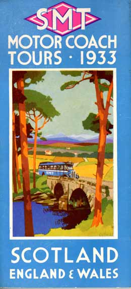 Colourful 1933 Tour Brochure