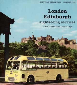 "A ""two-day"" London coach posed at Edinburgh Castle"