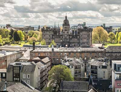 George Heriot School viewed from the ramparts of Edinburgh Castle