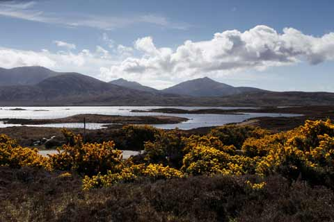 Lochs and mountains of the Loch Druidibeg Nature Reserve