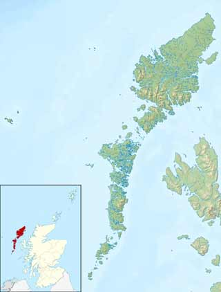 Map of the Outer Hebrides