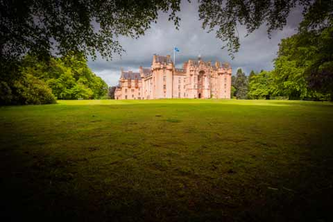 Fyvie Castle seen from the grounds