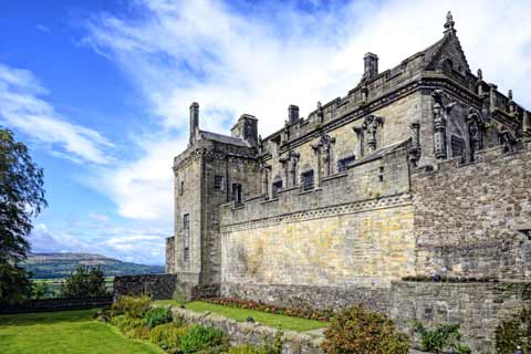 The Royal Palace at Stirling Castle seen from the Queen Anne Gardens