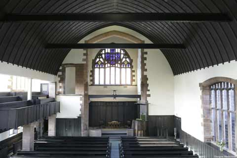 Interior view of Queen's Cross Church