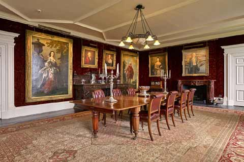 Dining room of Dunvegan Castle