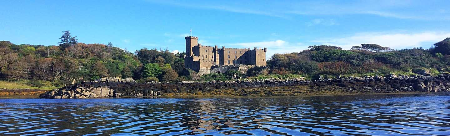 Dunvegan Castle seen from Loch Dunvegan