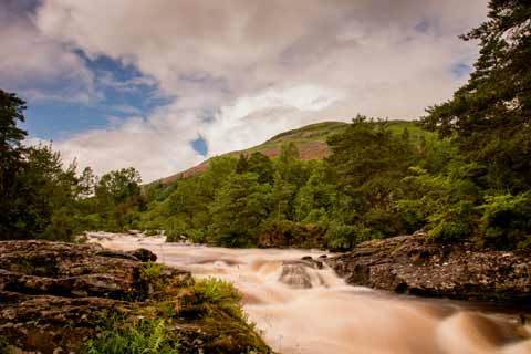 Falls of Dochart on the Rob Roy Way