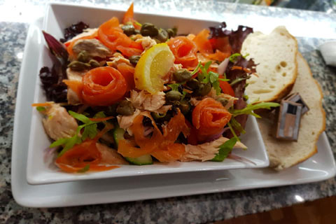 Delicious seafood dish served at the Tobermory Scullery