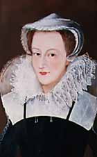 portrait of Mary, Queen of Scots wearing white cap and ruff